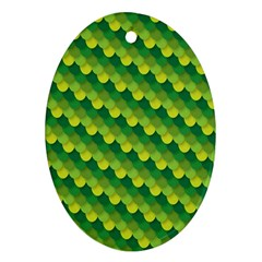 Dragon Scale Scales Pattern Oval Ornament (two Sides) by Amaryn4rt