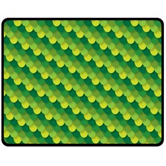 Dragon Scale Scales Pattern Fleece Blanket (medium)  by Amaryn4rt