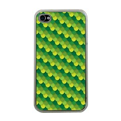 Dragon Scale Scales Pattern Apple Iphone 4 Case (clear) by Amaryn4rt