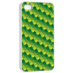 Dragon Scale Scales Pattern Apple Iphone 4/4s Seamless Case (white) by Amaryn4rt