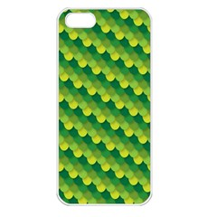 Dragon Scale Scales Pattern Apple Iphone 5 Seamless Case (white) by Amaryn4rt