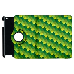 Dragon Scale Scales Pattern Apple Ipad 2 Flip 360 Case by Amaryn4rt