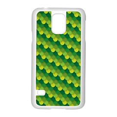 Dragon Scale Scales Pattern Samsung Galaxy S5 Case (white) by Amaryn4rt