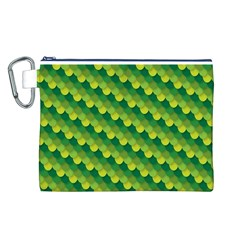 Dragon Scale Scales Pattern Canvas Cosmetic Bag (l)