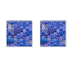 Background Texture Pattern Colorful Cufflinks (square) by Amaryn4rt