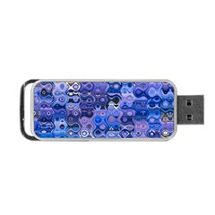 Background Texture Pattern Colorful Portable Usb Flash (one Side) by Amaryn4rt