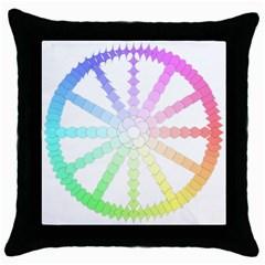 Polygon Evolution Wheel Geometry Throw Pillow Case (black) by Amaryn4rt