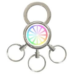 Polygon Evolution Wheel Geometry 3 Ring Key Chains by Amaryn4rt