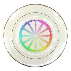 Polygon Evolution Wheel Geometry Porcelain Plates by Amaryn4rt