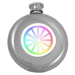 Polygon Evolution Wheel Geometry Round Hip Flask (5 Oz) by Amaryn4rt