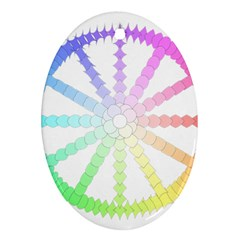 Polygon Evolution Wheel Geometry Oval Ornament (Two Sides)