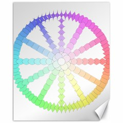 Polygon Evolution Wheel Geometry Canvas 11  X 14   by Amaryn4rt