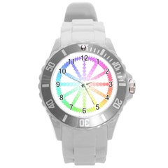 Polygon Evolution Wheel Geometry Round Plastic Sport Watch (l) by Amaryn4rt