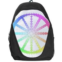Polygon Evolution Wheel Geometry Backpack Bag by Amaryn4rt