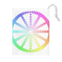 Polygon Evolution Wheel Geometry Drawstring Pouches (extra Large) by Amaryn4rt