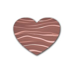 Lines Swinging Texture Background Rubber Coaster (heart)  by Amaryn4rt