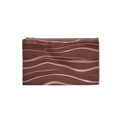 Lines Swinging Texture Background Cosmetic Bag (small)  by Amaryn4rt