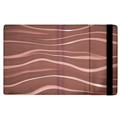 Lines Swinging Texture Background Apple Ipad 3/4 Flip Case by Amaryn4rt