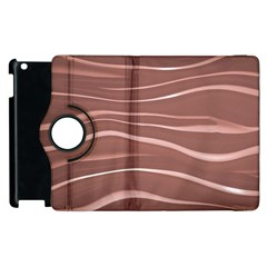 Lines Swinging Texture Background Apple Ipad 3/4 Flip 360 Case by Amaryn4rt