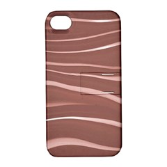 Lines Swinging Texture Background Apple Iphone 4/4s Hardshell Case With Stand by Amaryn4rt