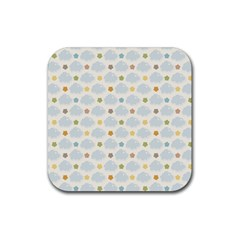 Baby Cloudy Star Cloud Rainbow Blue Sky Rubber Square Coaster (4 Pack)  by Alisyart
