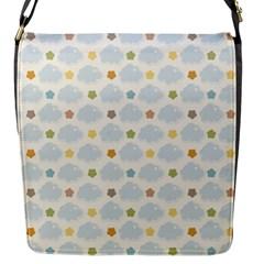 Baby Cloudy Star Cloud Rainbow Blue Sky Flap Messenger Bag (s) by Alisyart