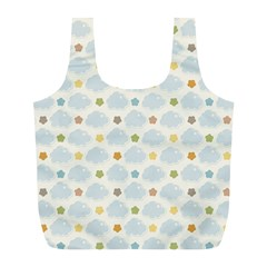 Baby Cloudy Star Cloud Rainbow Blue Sky Full Print Recycle Bags (l)  by Alisyart