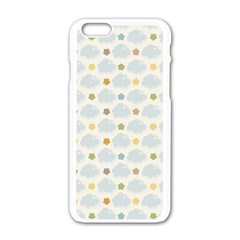 Baby Cloudy Star Cloud Rainbow Blue Sky Apple Iphone 6/6s White Enamel Case by Alisyart