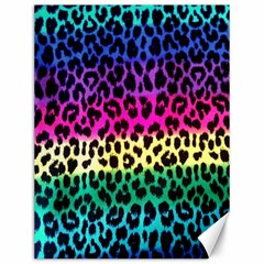 Cheetah Neon Rainbow Animal Canvas 12  X 16   by Alisyart