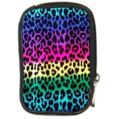 Cheetah Neon Rainbow Animal Compact Camera Cases by Alisyart