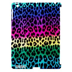 Cheetah Neon Rainbow Animal Apple Ipad 3/4 Hardshell Case (compatible With Smart Cover) by Alisyart