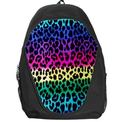 Cheetah Neon Rainbow Animal Backpack Bag by Alisyart
