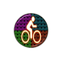 Bike Neon Colors Graphic Bright Bicycle Light Purple Orange Gold Green Blue Hat Clip Ball Marker (4 Pack) by Alisyart