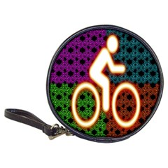 Bike Neon Colors Graphic Bright Bicycle Light Purple Orange Gold Green Blue Classic 20 Cd Wallets by Alisyart