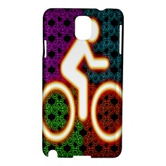 Bike Neon Colors Graphic Bright Bicycle Light Purple Orange Gold Green Blue Samsung Galaxy Note 3 N9005 Hardshell Case by Alisyart