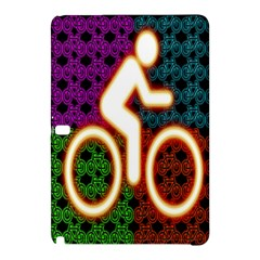 Bike Neon Colors Graphic Bright Bicycle Light Purple Orange Gold Green Blue Samsung Galaxy Tab Pro 12 2 Hardshell Case