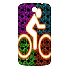 Bike Neon Colors Graphic Bright Bicycle Light Purple Orange Gold Green Blue Samsung Galaxy Mega I9200 Hardshell Back Case