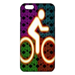 Bike Neon Colors Graphic Bright Bicycle Light Purple Orange Gold Green Blue Iphone 6 Plus/6s Plus Tpu Case by Alisyart