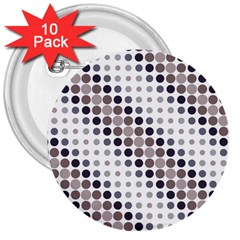Circle Blue Grey Line Waves Black 3  Buttons (10 Pack)  by Alisyart