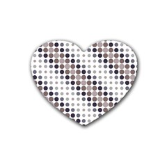 Circle Blue Grey Line Waves Black Rubber Coaster (heart)  by Alisyart