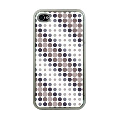 Circle Blue Grey Line Waves Black Apple Iphone 4 Case (clear) by Alisyart