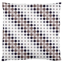 Circle Blue Grey Line Waves Black Large Cushion Case (two Sides) by Alisyart