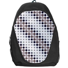 Circle Blue Grey Line Waves Black Backpack Bag by Alisyart