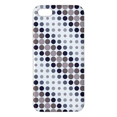 Circle Blue Grey Line Waves Black Iphone 5s/ Se Premium Hardshell Case by Alisyart