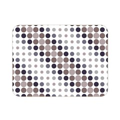 Circle Blue Grey Line Waves Black Double Sided Flano Blanket (mini)  by Alisyart