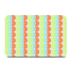 Circles Orange Blue Green Yellow Plate Mats by Alisyart