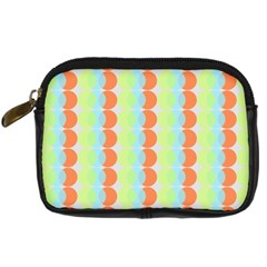 Circles Orange Blue Green Yellow Digital Camera Cases by Alisyart