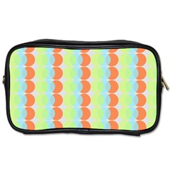 Circles Orange Blue Green Yellow Toiletries Bags 2 Side by Alisyart