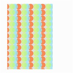 Circles Orange Blue Green Yellow Small Garden Flag (two Sides) by Alisyart