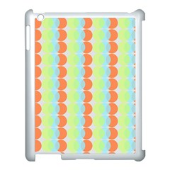 Circles Orange Blue Green Yellow Apple Ipad 3/4 Case (white) by Alisyart